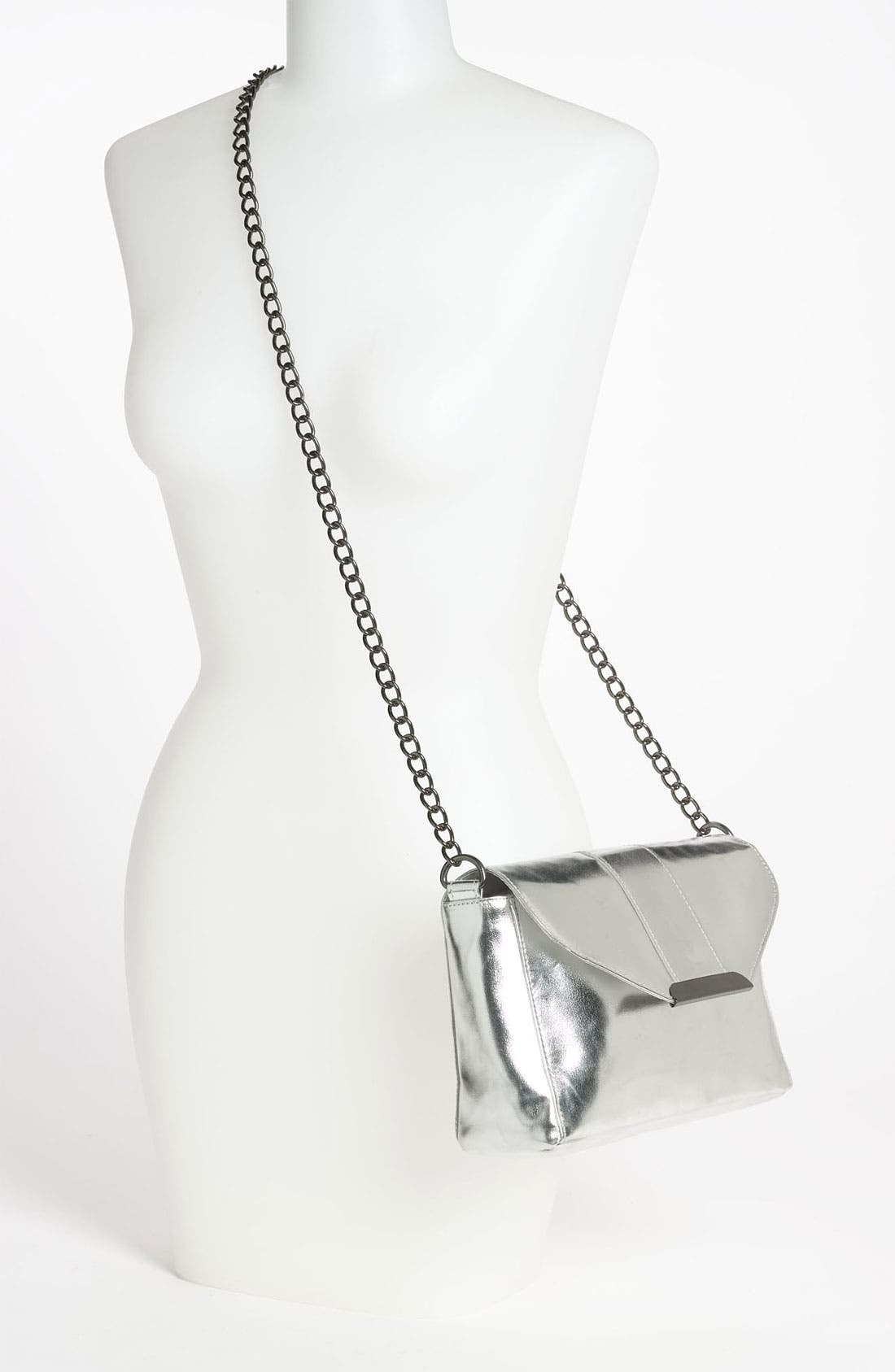 Alternate Image 2  - Lulu Metallic Crossbody Bag