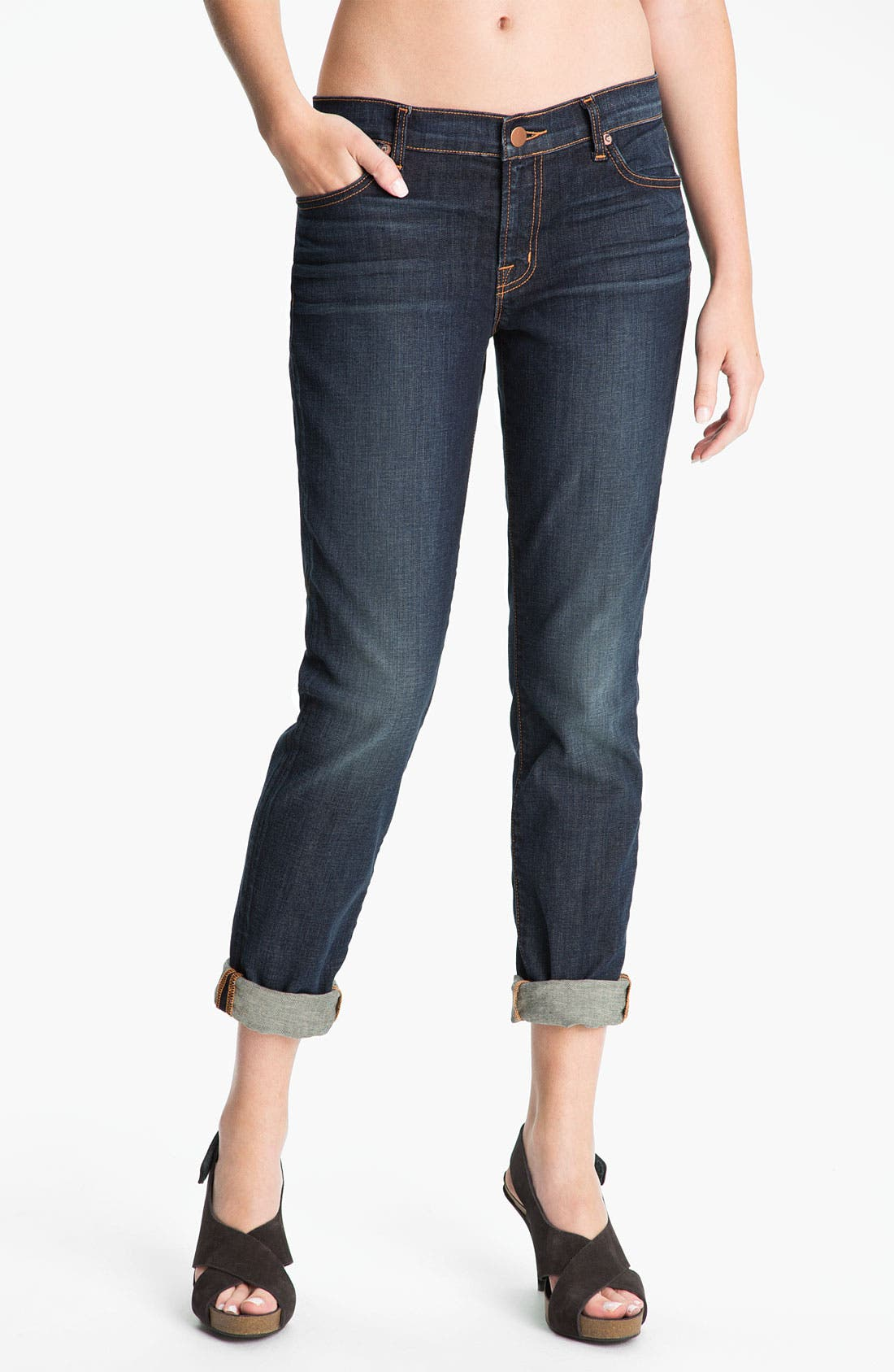 Alternate Image 1 Selected - J Brand 'Midori' Stretch Jeans (Dark Vintage)