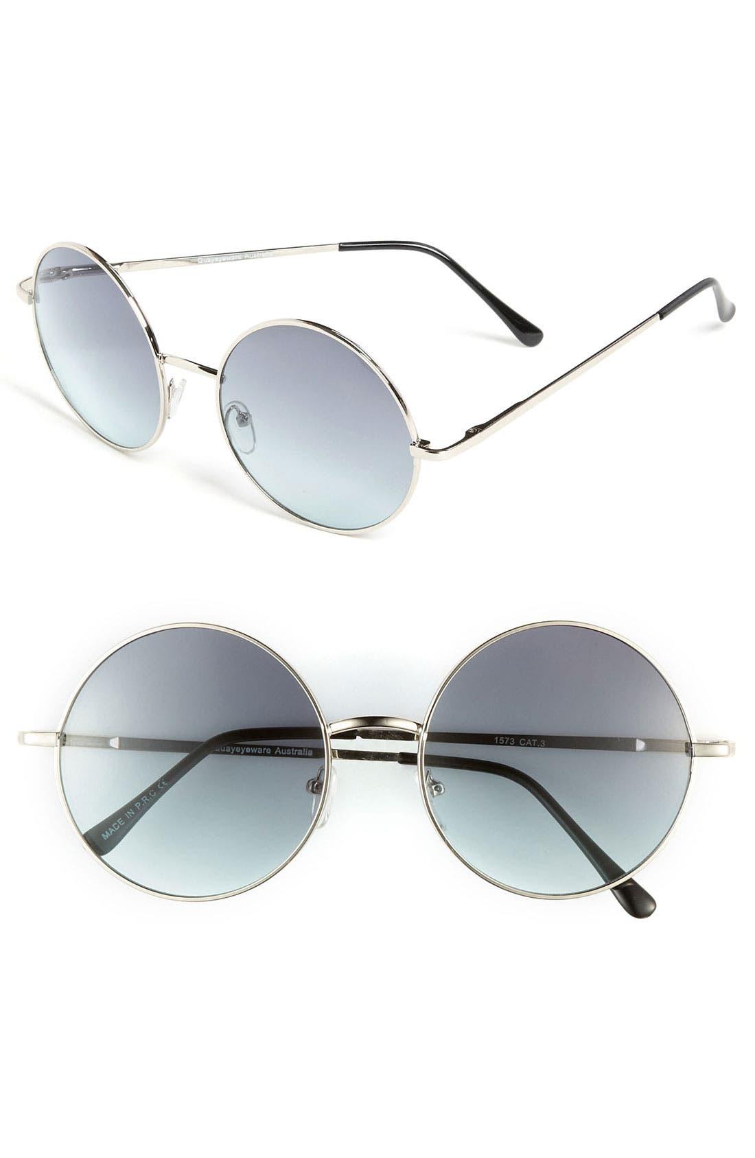 Main Image - Quay Round Retro Sunglasses