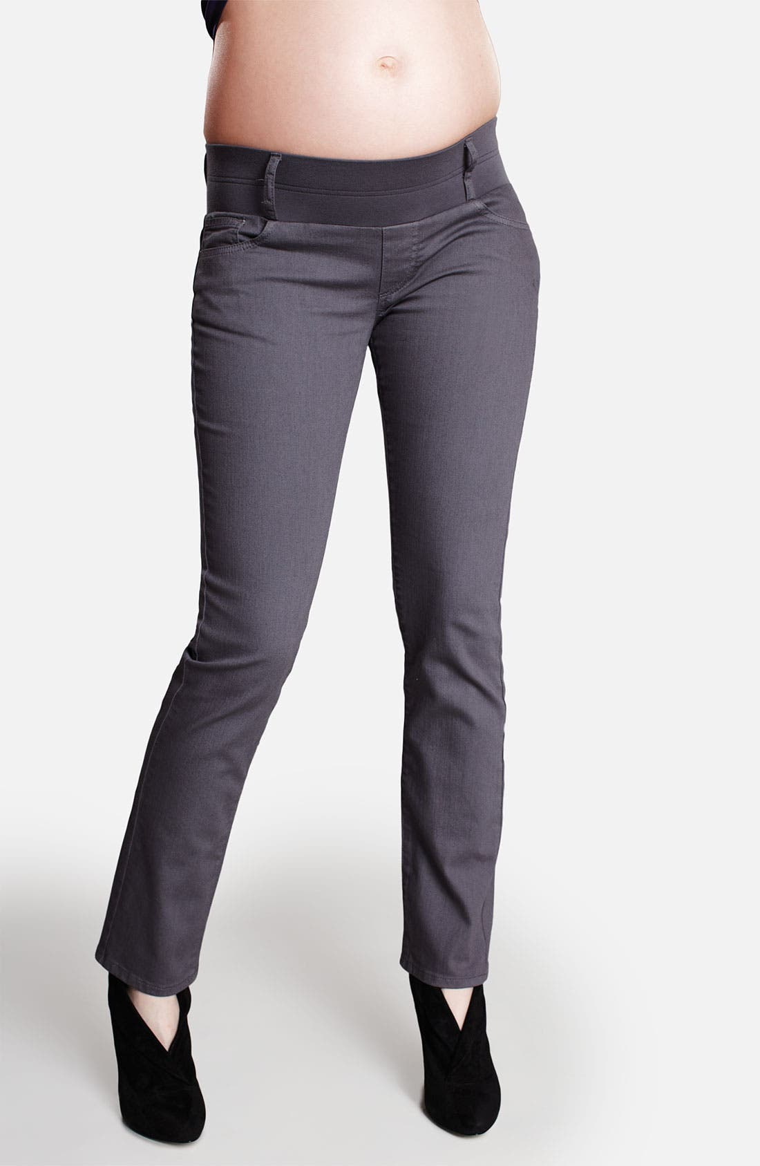 Alternate Image 1 Selected - Maternal America Maternity Skinny Ankle Stretch Jeans