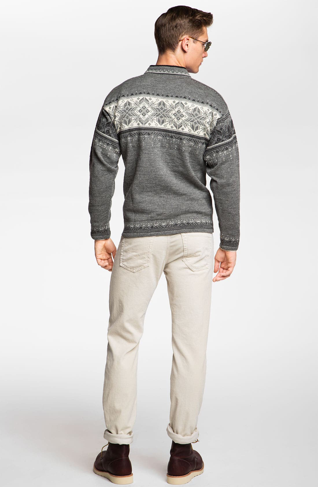Alternate Image 6  - Dale of Norway 'Blyfjell' Quarter Zip Wool Sweater