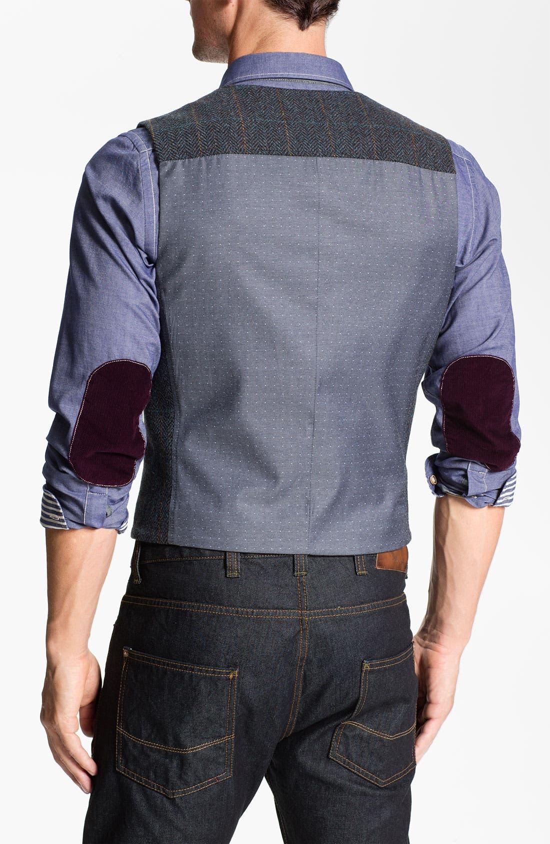Alternate Image 2  - Ted Baker London 'Rythwai' Wool Waistcoat