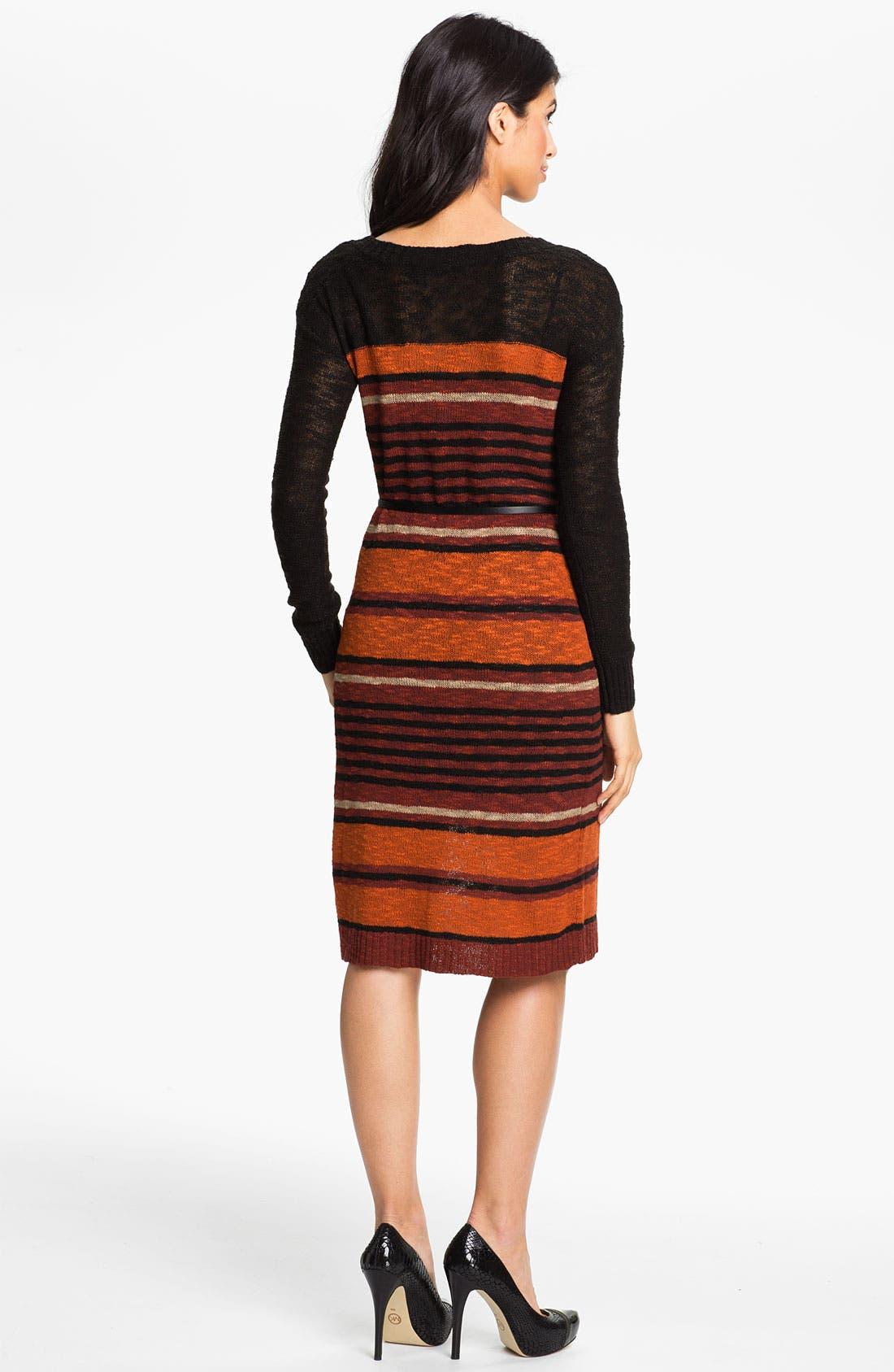 Alternate Image 2  - Kensie Belted Sweater Dress (Online Exclusive)