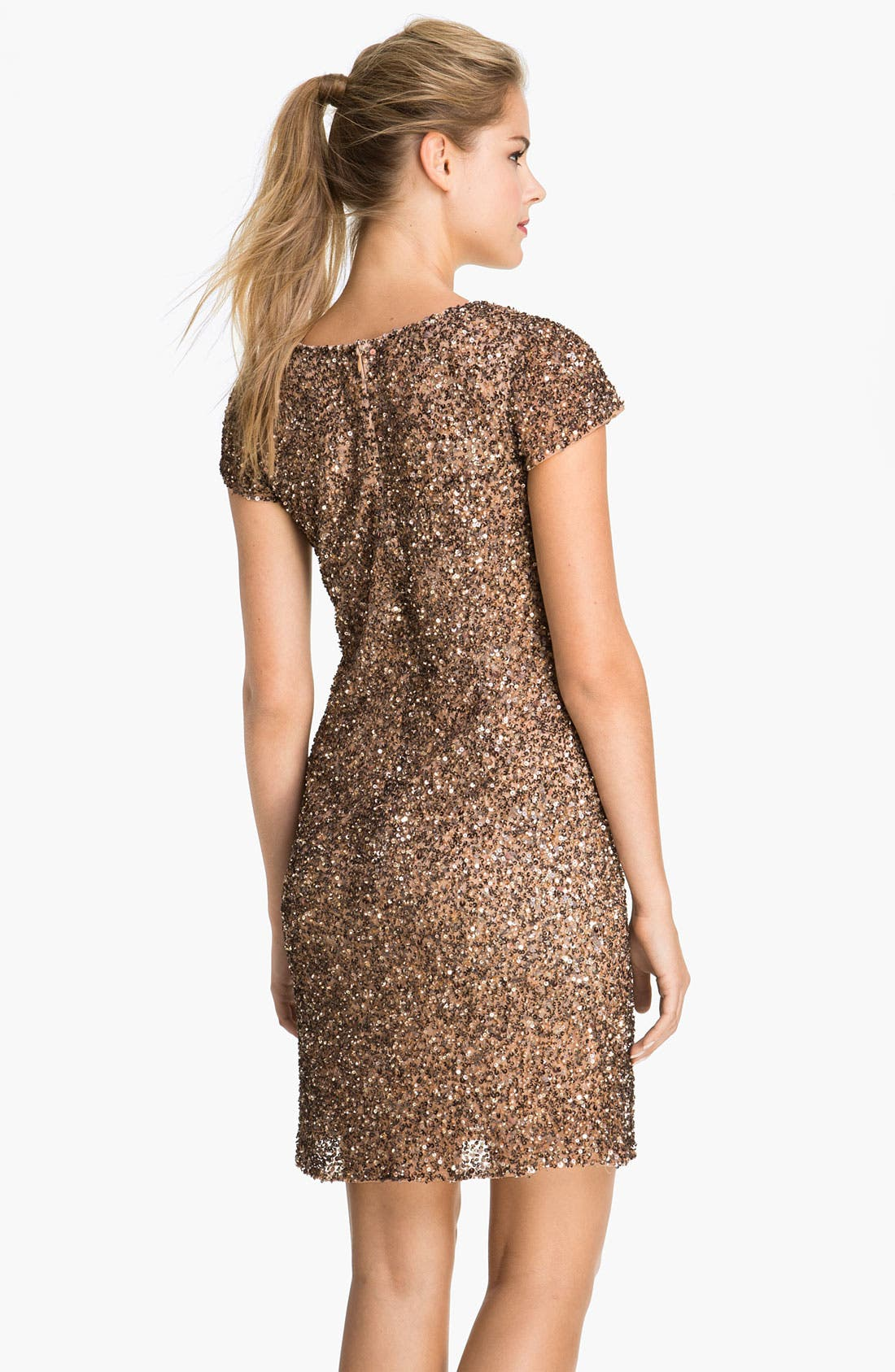 Alternate Image 2  - Pisarro Nights V-Neck Sequin Mesh Dress