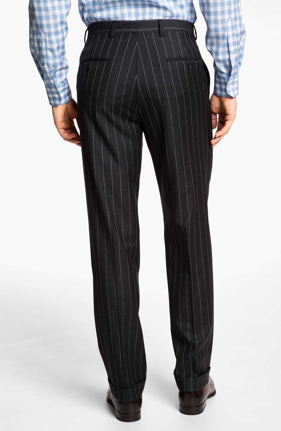 Alternate Image 5  - Hart Schaffner Marx Stripe Wool Suit
