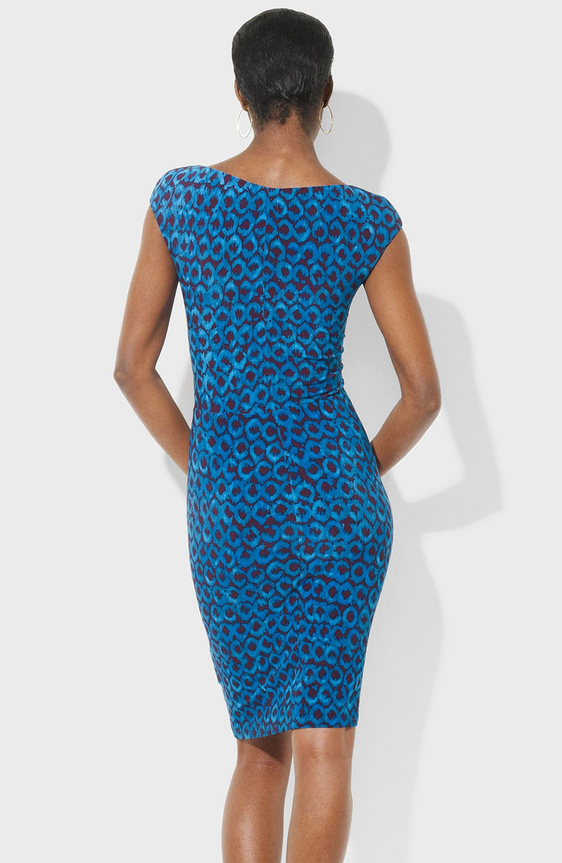Alternate Image 2  - Lauren Ralph Lauren Twist Front Print Jersey Sheath Dress