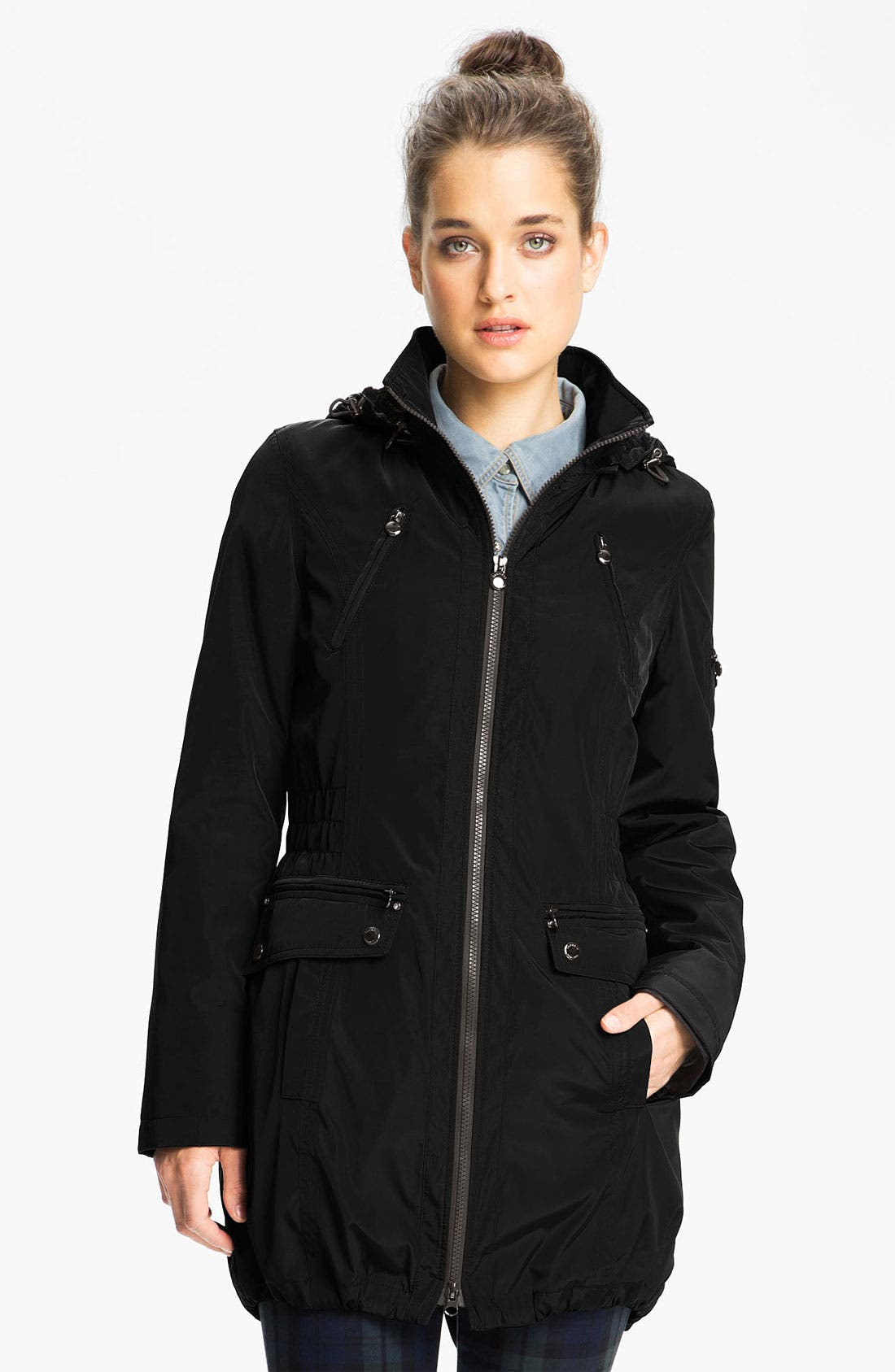 Alternate Image 1 Selected - Laundry by Shelli Segal Anorak with Detachable Faux Fur Liner