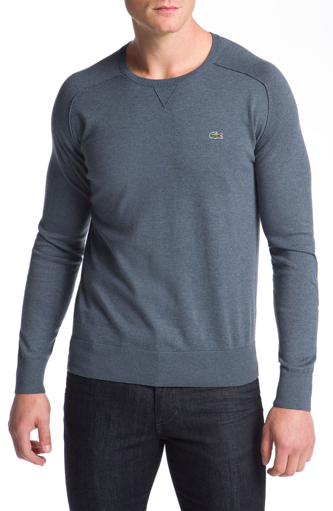 Main Image - Lacoste Cotton & Cashmere Crewneck Sweater