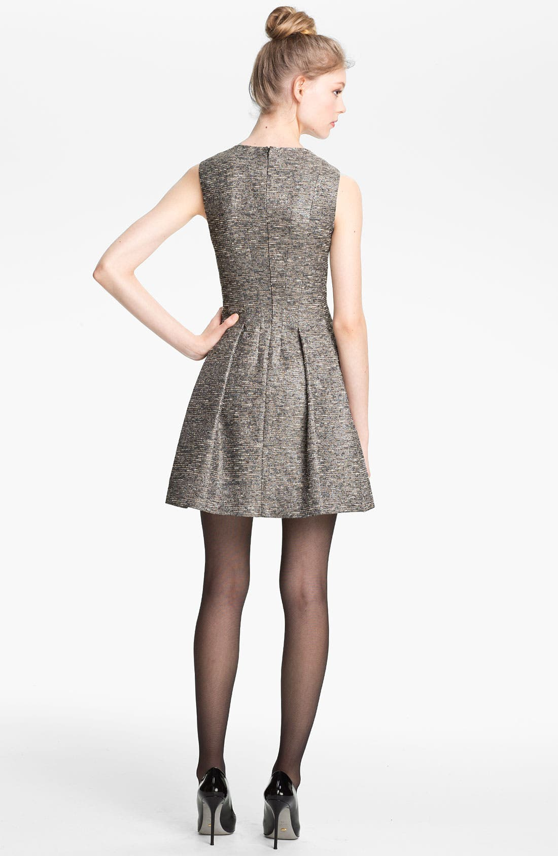Alternate Image 2  - Mcginn 'Chloe' Textured Metallic Dress