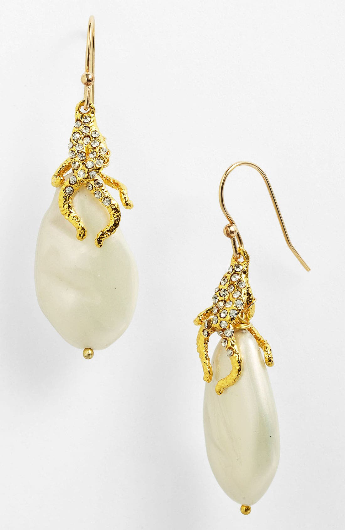Alternate Image 1 Selected - Alexis Bittar 'Elements' Vine Capped Pearl Earrings (Nordstrom Exclusive)