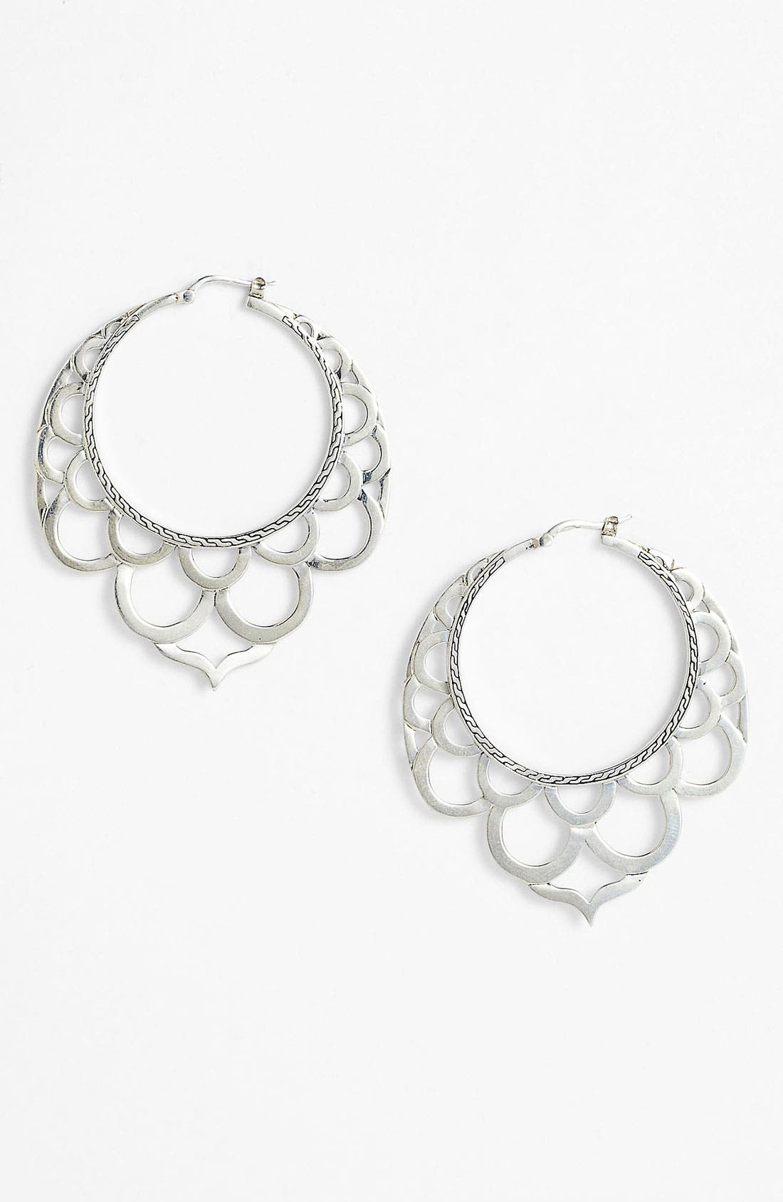 Main Image - John Hardy 'Naga' Large Lace Hoop Earrings