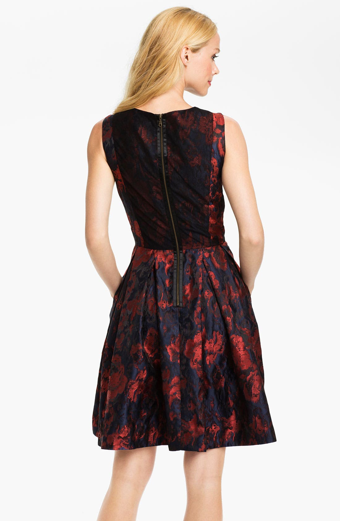 Alternate Image 2  - Taylor Dresses Brocade Fit & Flare Dress