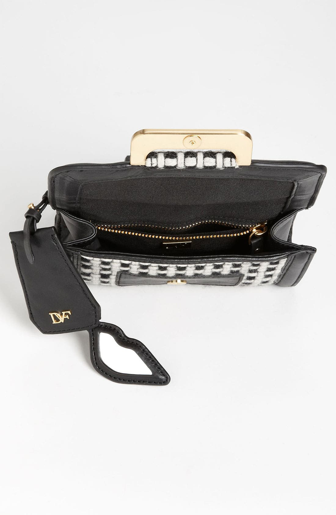 Alternate Image 3  - Diane von Furstenberg 'New Harper - Charlie' Checkered Wool Crossbody Bag