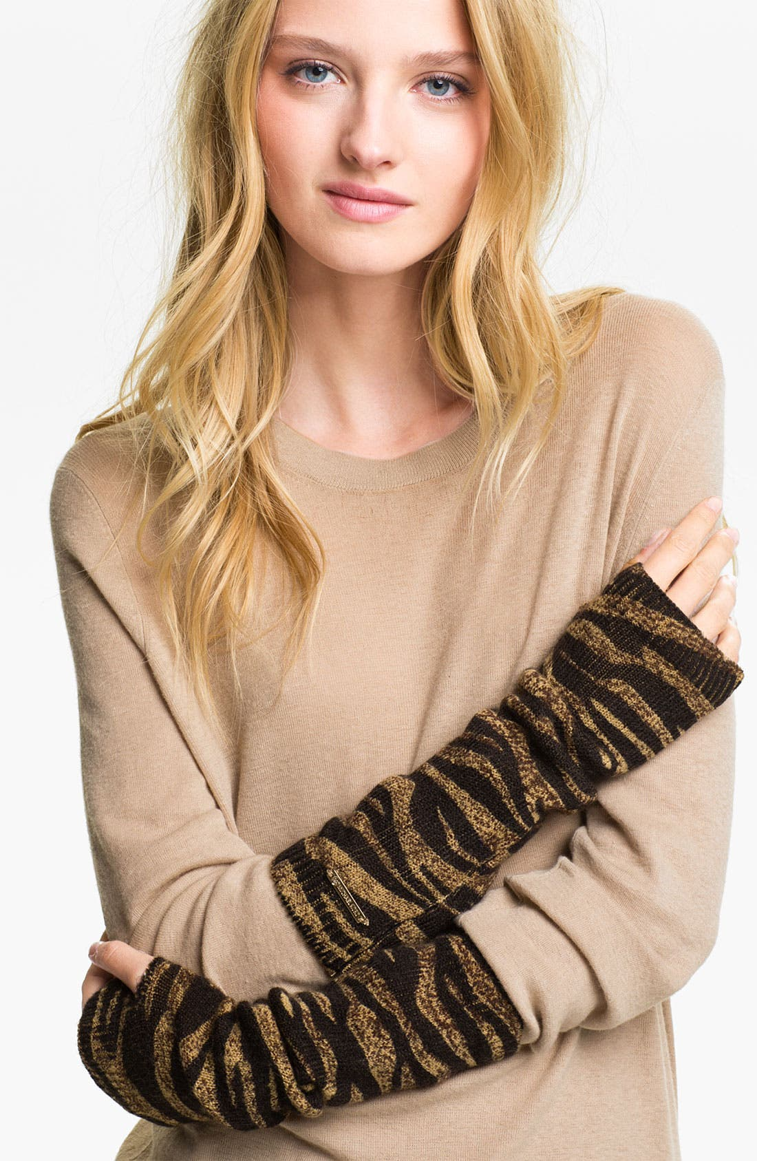 Alternate Image 1 Selected - MICHAEL Michael Kors Animal Print Fingerless Gloves