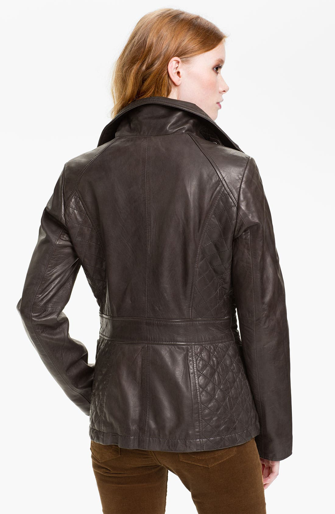 Alternate Image 2  - Marc New York by Andrew Marc Quilt Trim Leather Jacket (Online Exclusive)
