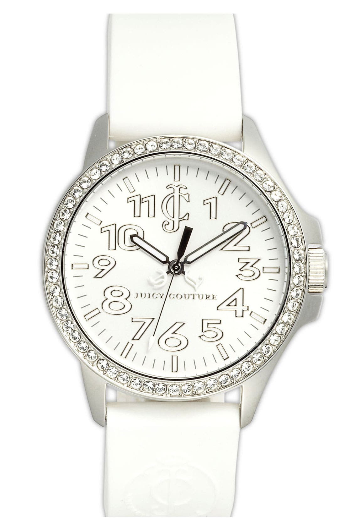 Main Image - Juicy Couture 'Jetsetter' Silicone Strap Watch, 38mm