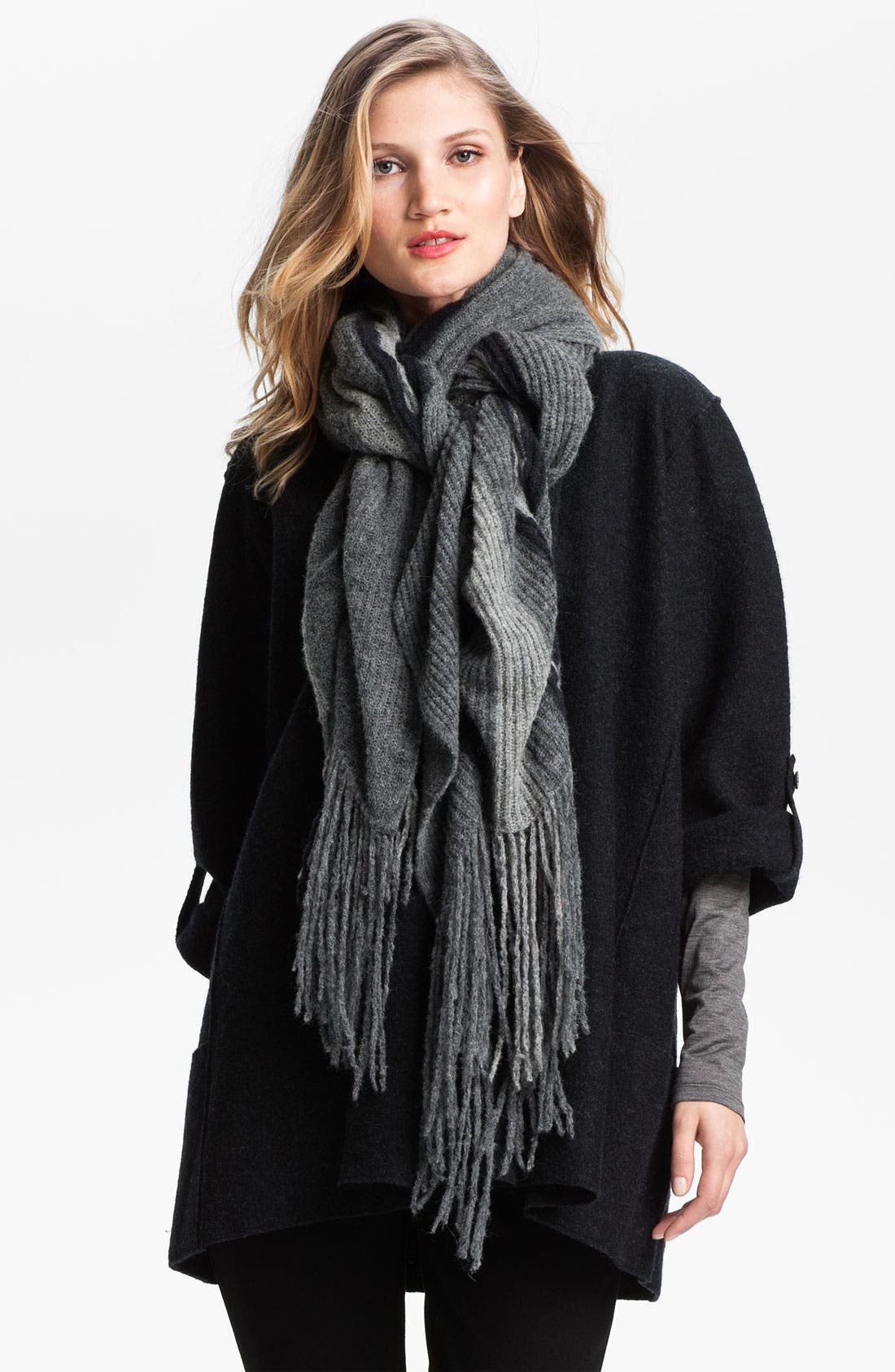 Alternate Image 1 Selected - Eileen Fisher Ombré Knit Scarf