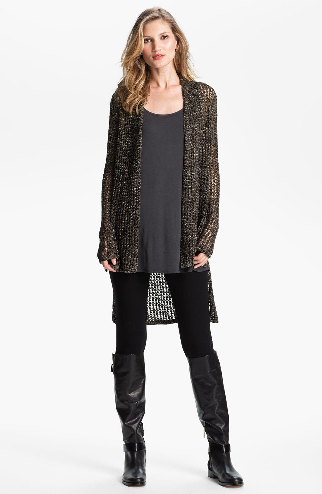 Alternate Image 4  - Eileen Fisher Sparkle Mesh Cardigan