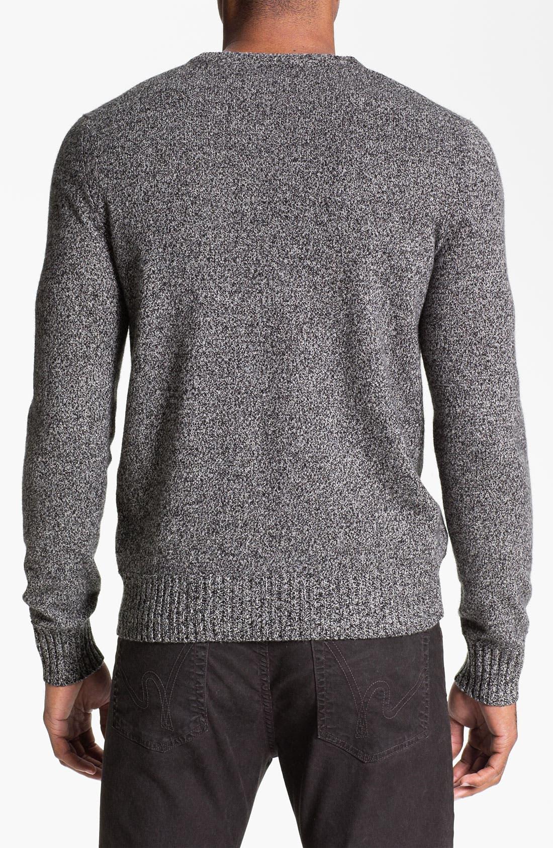 Alternate Image 2  - Façonnable Wool Crewneck Sweater