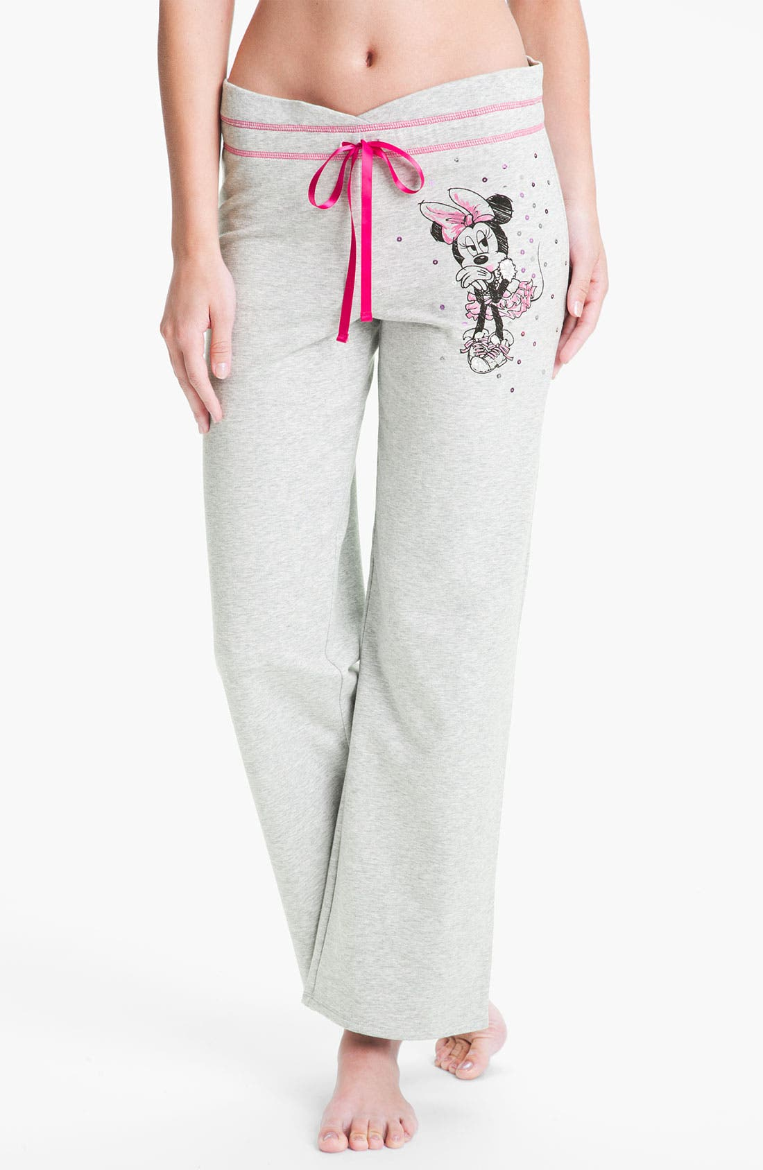 Alternate Image 1 Selected - Betsey Johnson 'Minnie' Fleece Pants