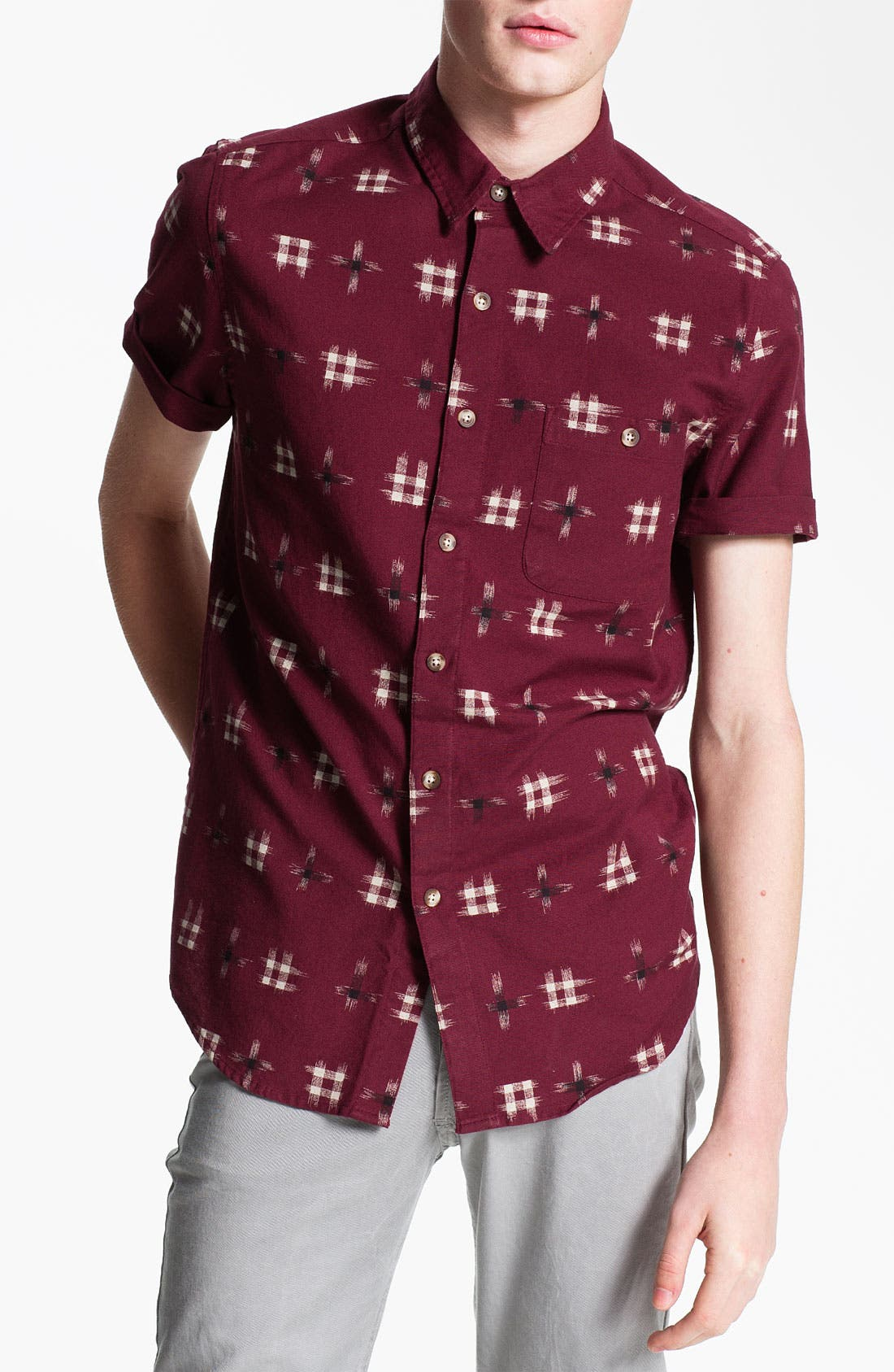 Alternate Image 1 Selected - Topman 'Ronald Ikat' Woven Shirt