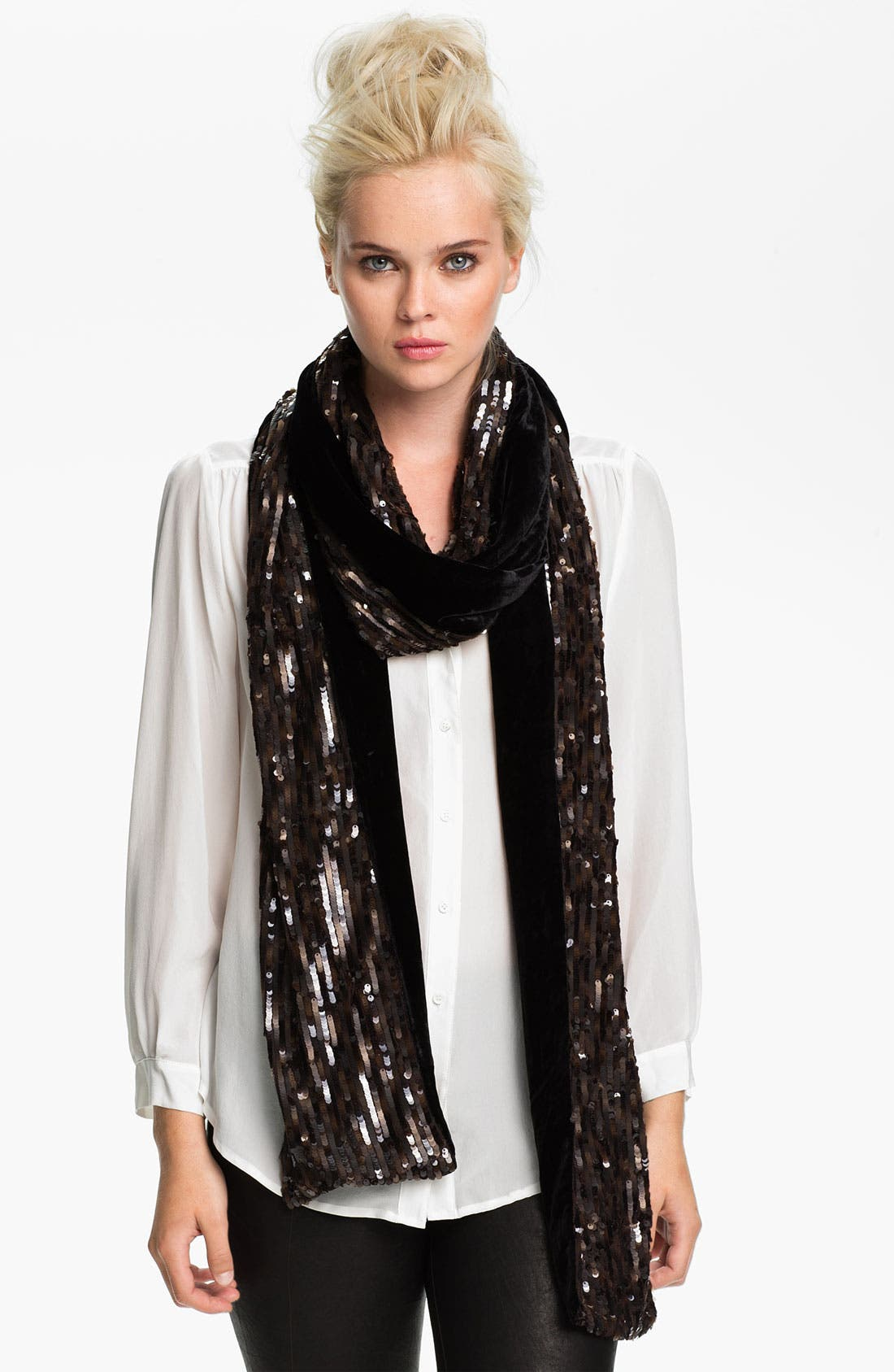 Main Image - Rachel Zoe 'Sequin Signature - Extra Long' Scarf