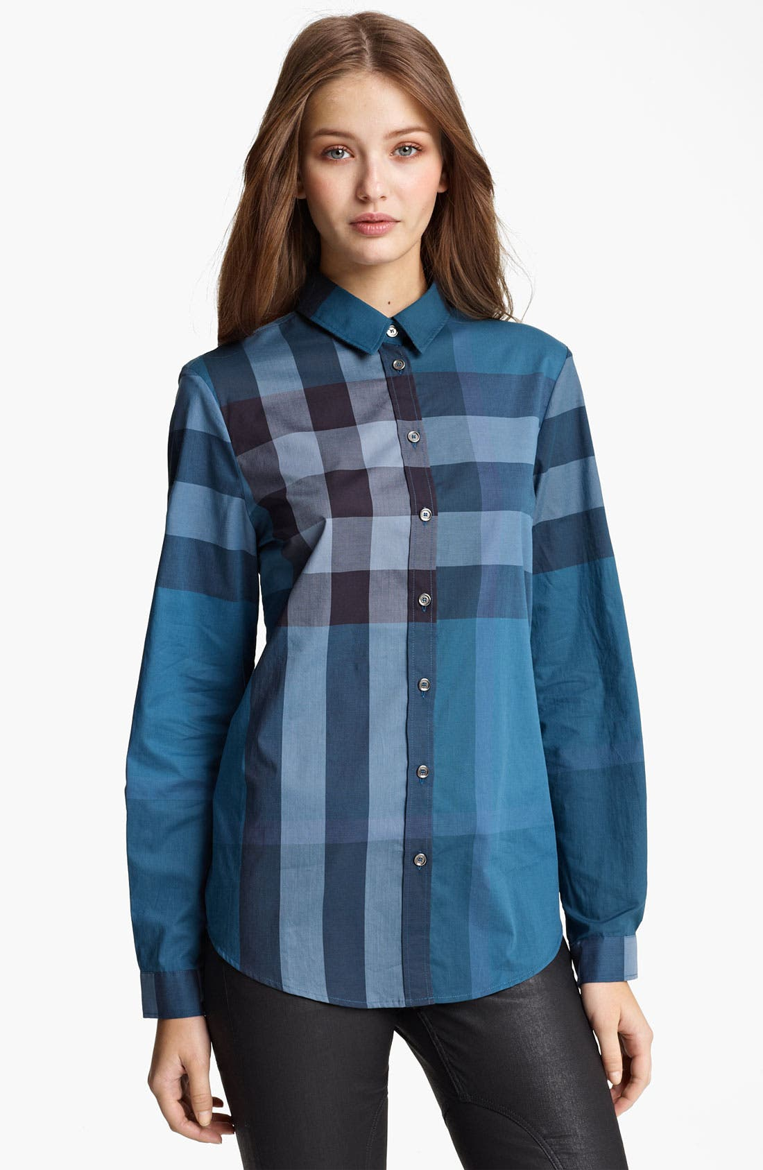 Alternate Image 1 Selected - Burberry Brit Check Print Shirt