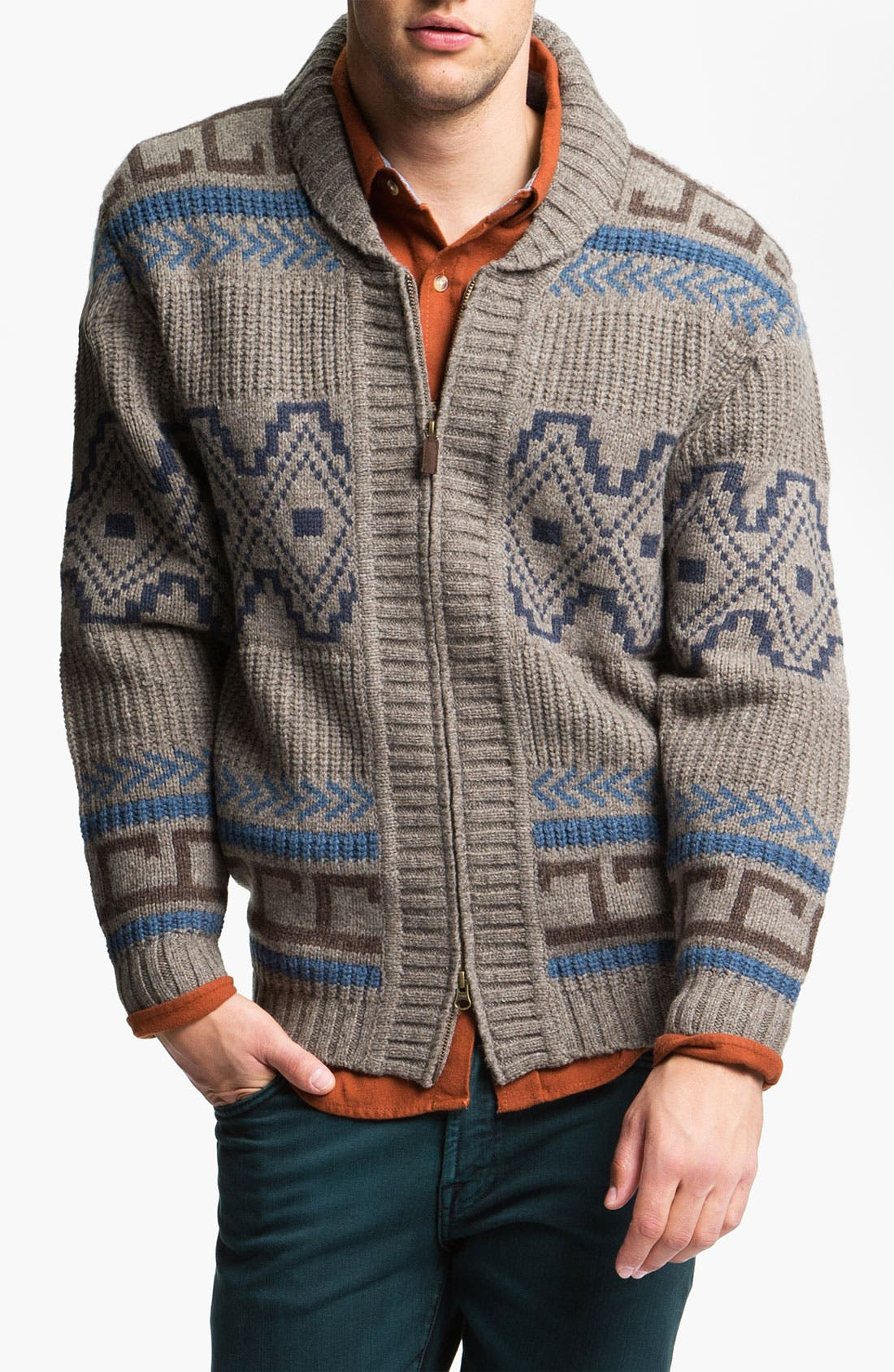 Main Image - Pendleton Shawl Collar Sweater