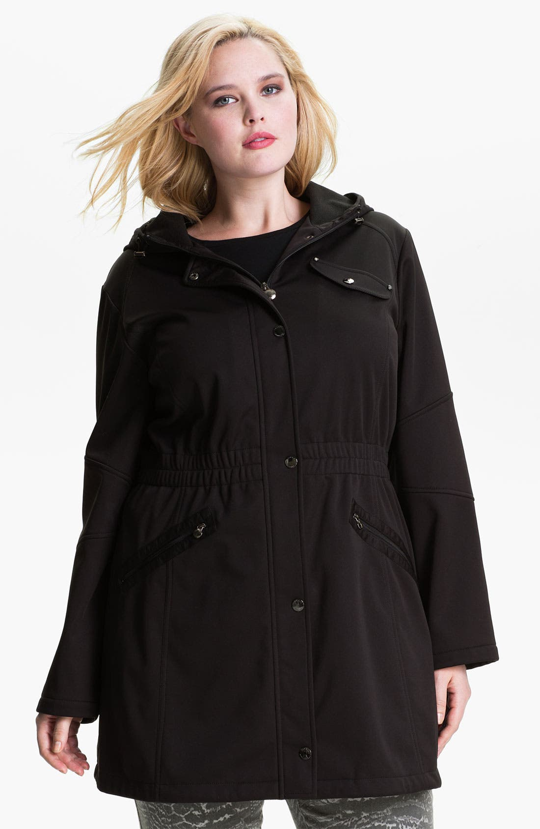 Alternate Image 1 Selected - Laundry by Shelli Segal Softshell Anorak (Plus) (Nordstrom Exclusive)