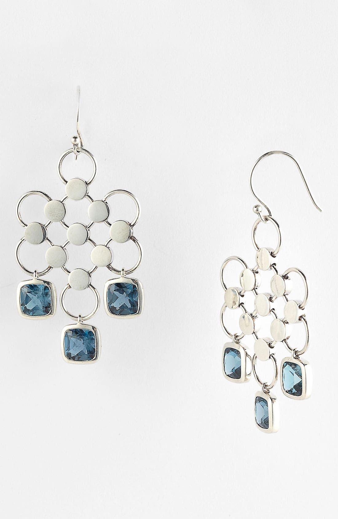 Alternate Image 1 Selected - John Hardy 'Batu Dot' London Blue Topaz Chandelier Earrings