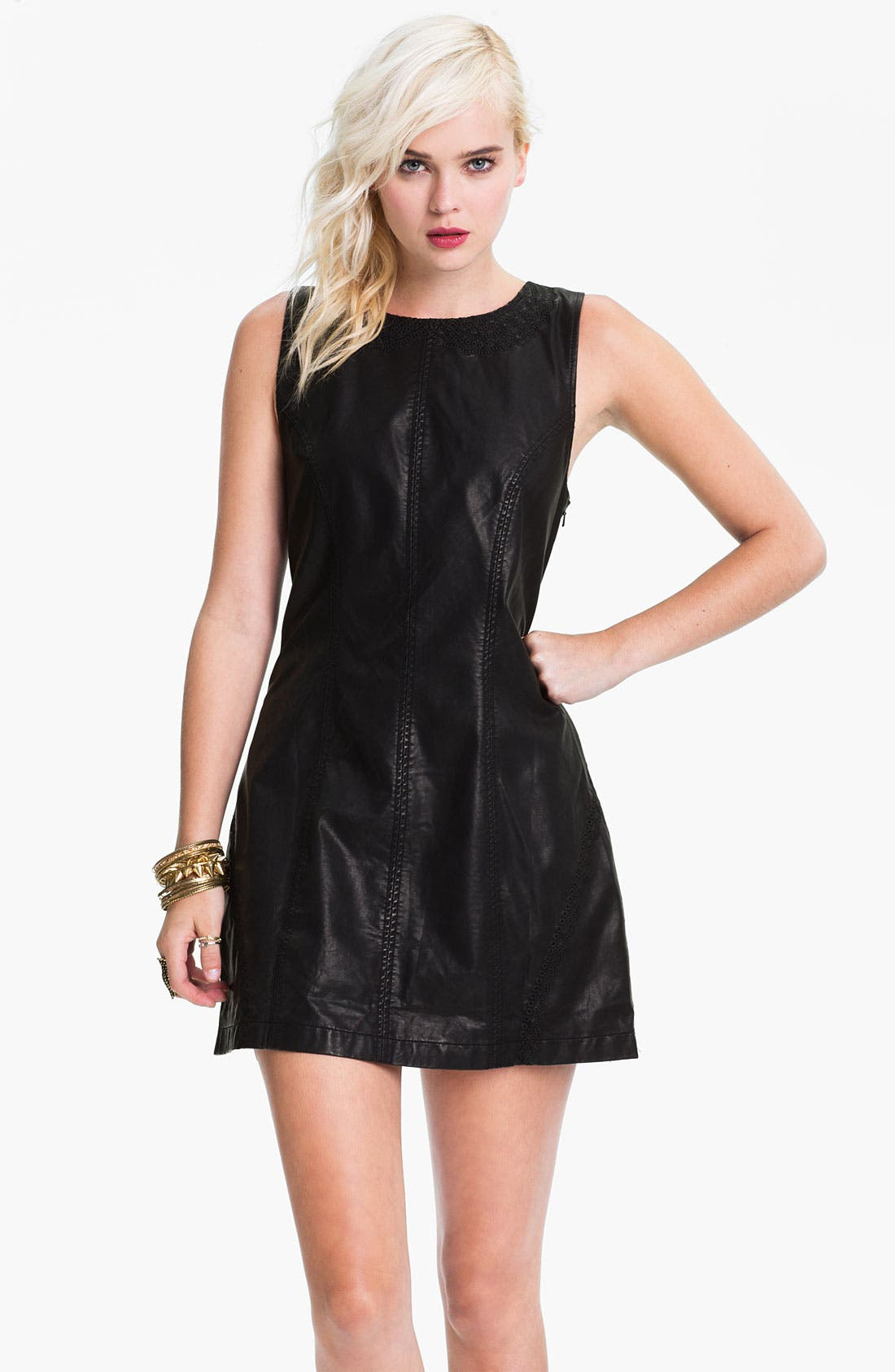 Alternate Image 1 Selected - Free People Faux Leather Dress