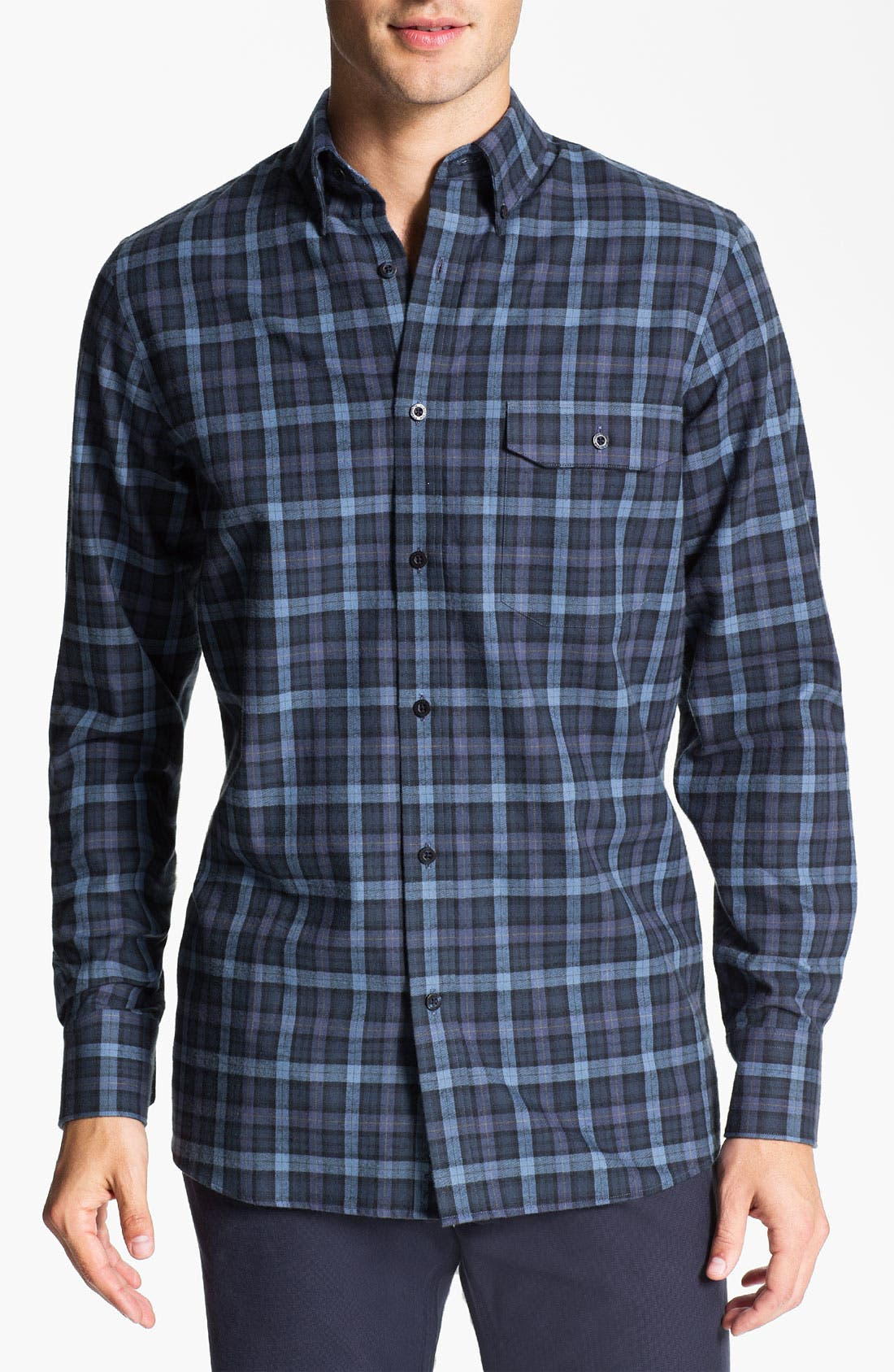 Alternate Image 1 Selected - Nordstrom Regular Fit Cotton Flannel Shirt