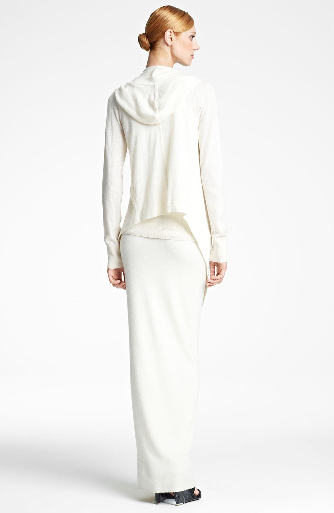 Alternate Image 3  - Donna Karan Collection Hooded Featherweight Cashmere Cozy