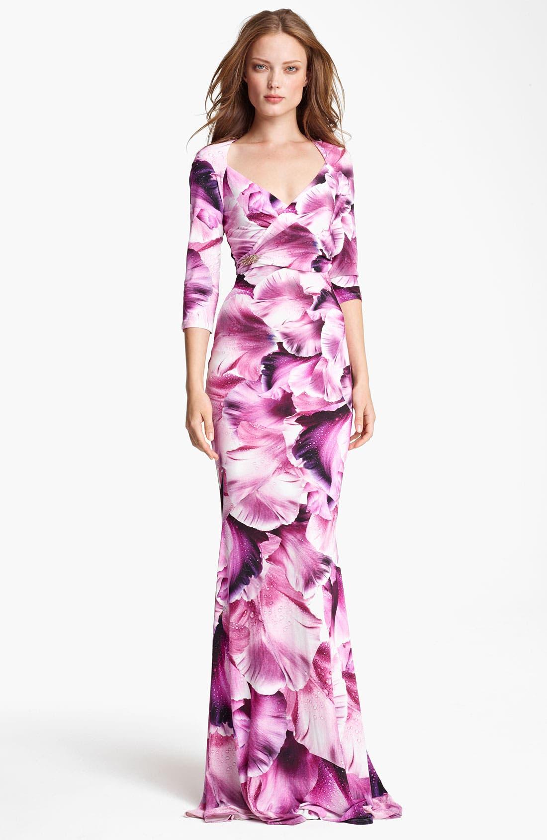 Main Image - Roberto Cavalli Flower Print Gown