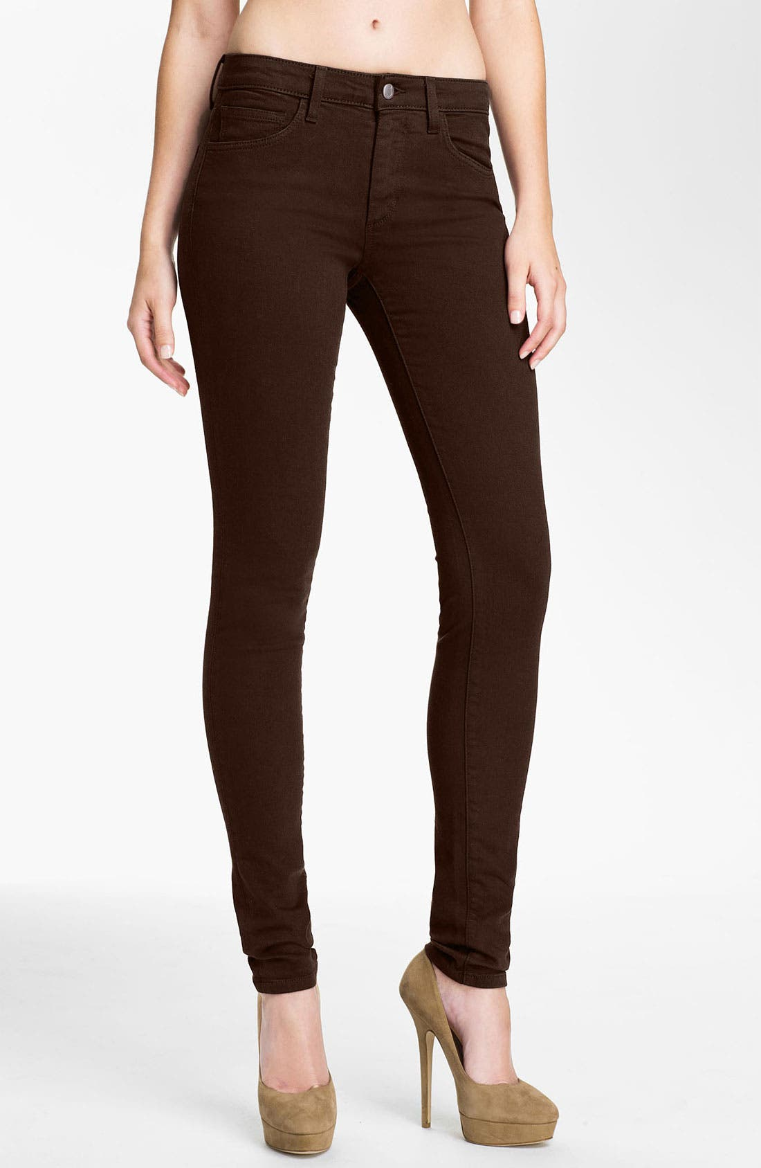 Alternate Image 1 Selected - Joe's Skinny Stretch Jeans (Fudge)