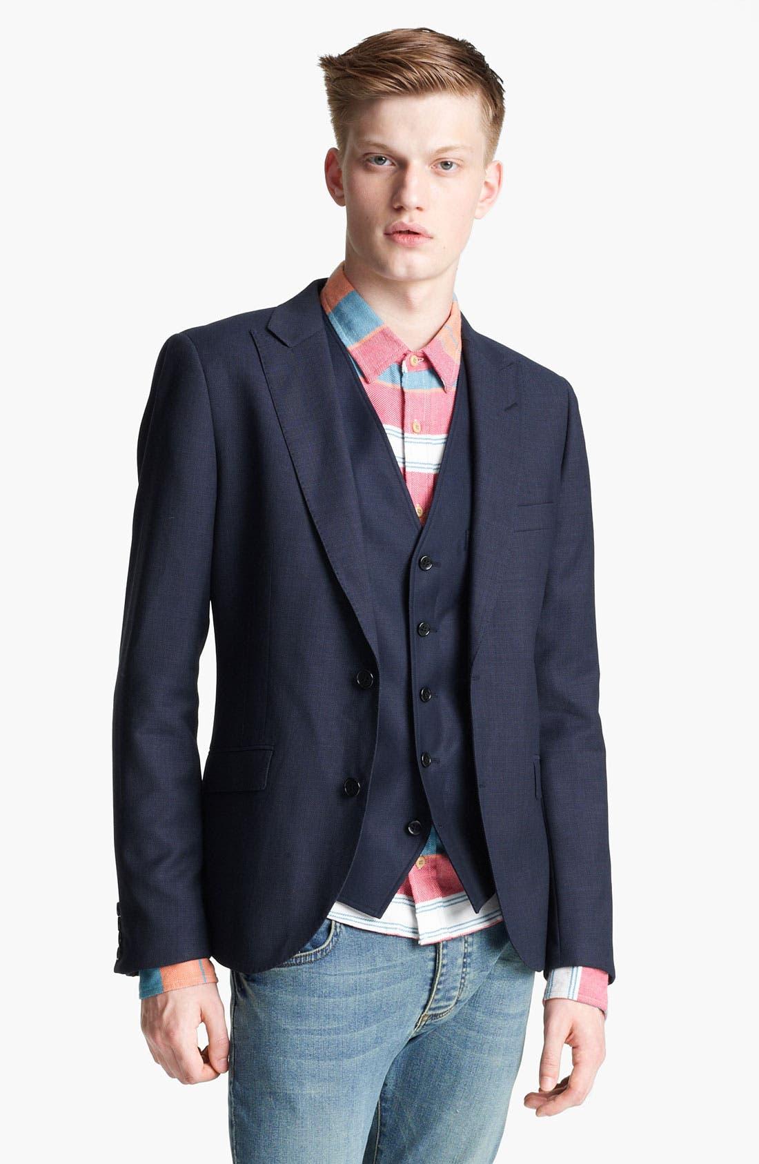 Alternate Image 1 Selected - Topman 'Chester' Skinny Blazer
