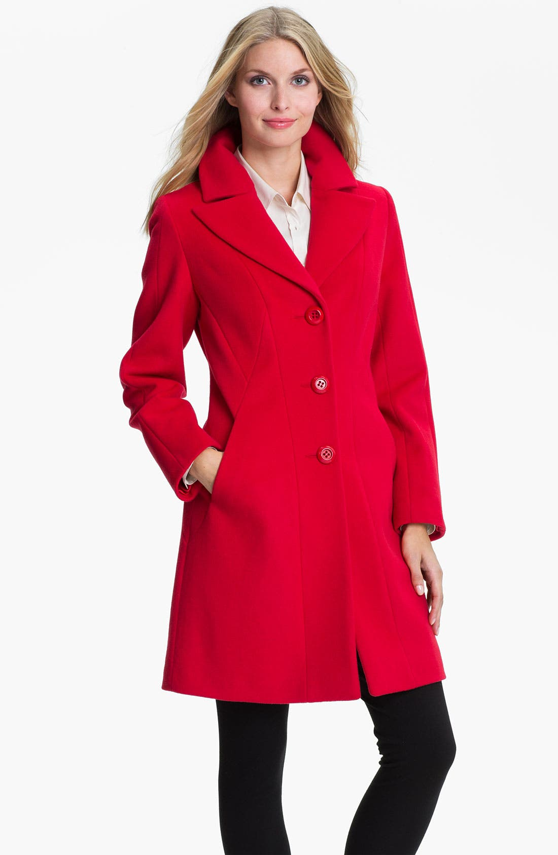 Alternate Image 1 Selected - Kristen Blake Single Breasted Walking Coat