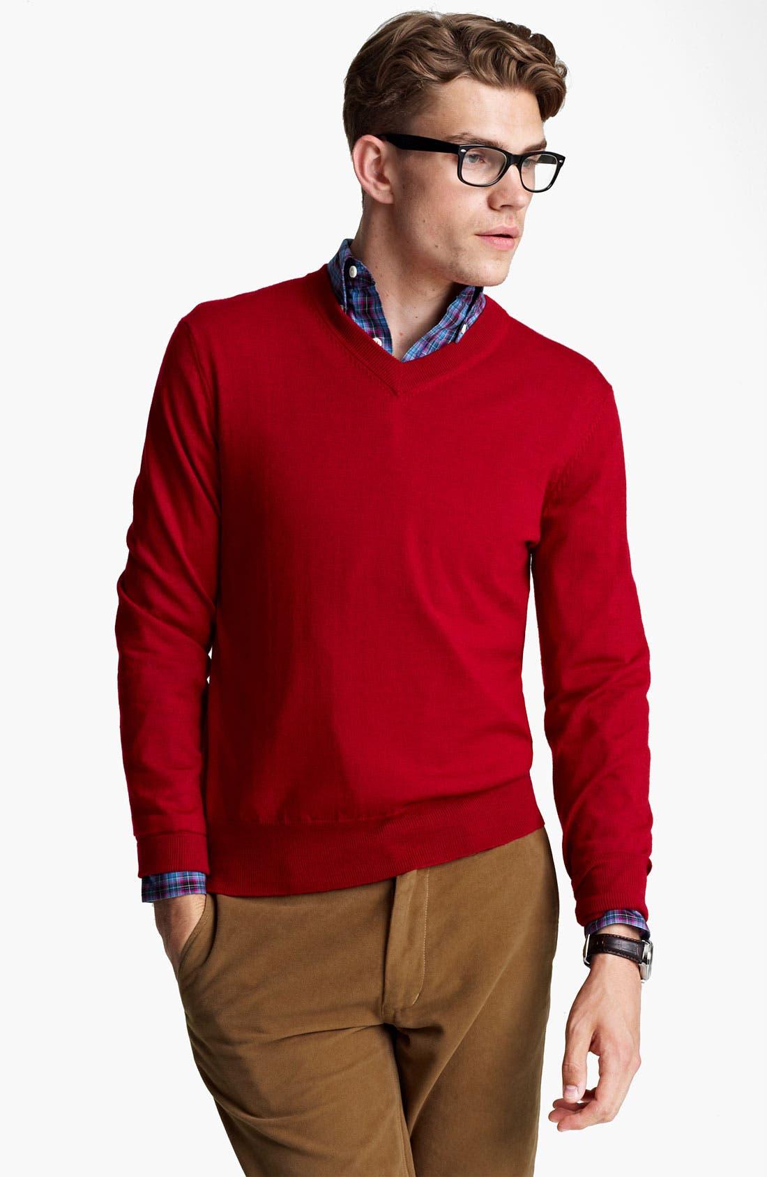 Alternate Image 1 Selected - Jack Spade 'Emmet' V-Neck Sweater