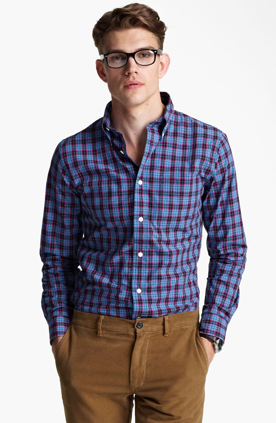 Alternate Image 1 Selected - Jack Spade 'Arnet' Check Woven Shirt