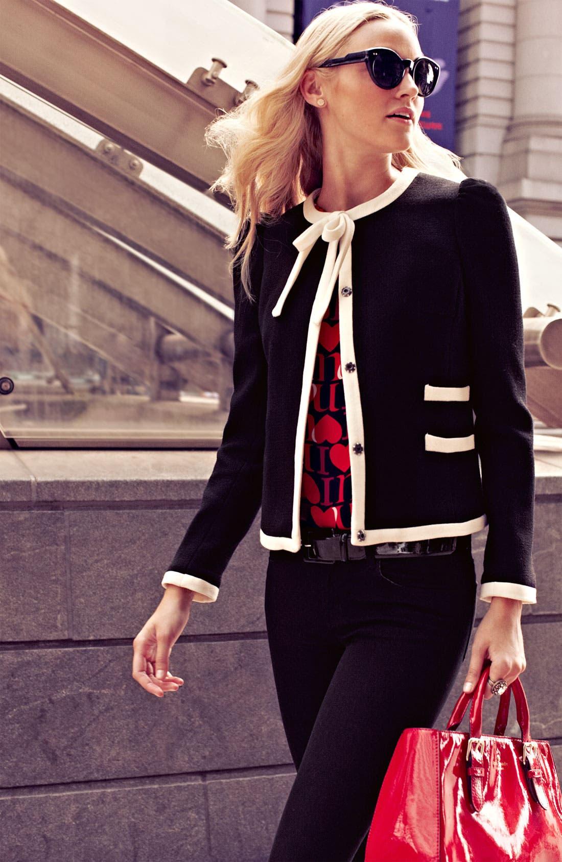 Alternate Image 7  - Milly 'Marizia' Bow Detail Jacket