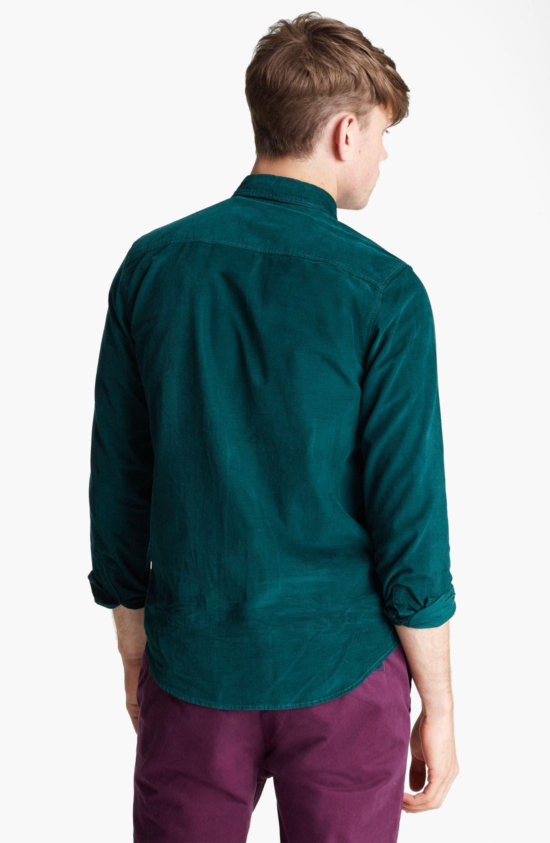 Alternate Image 2  - Topman Button Down Corduroy Shirt