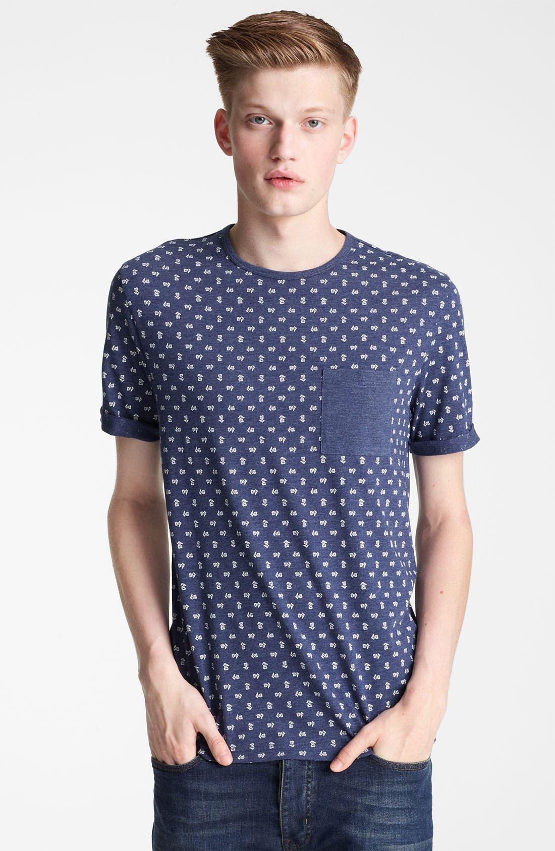 Alternate Image 1 Selected - Topman All Over Flower Print T-Shirt