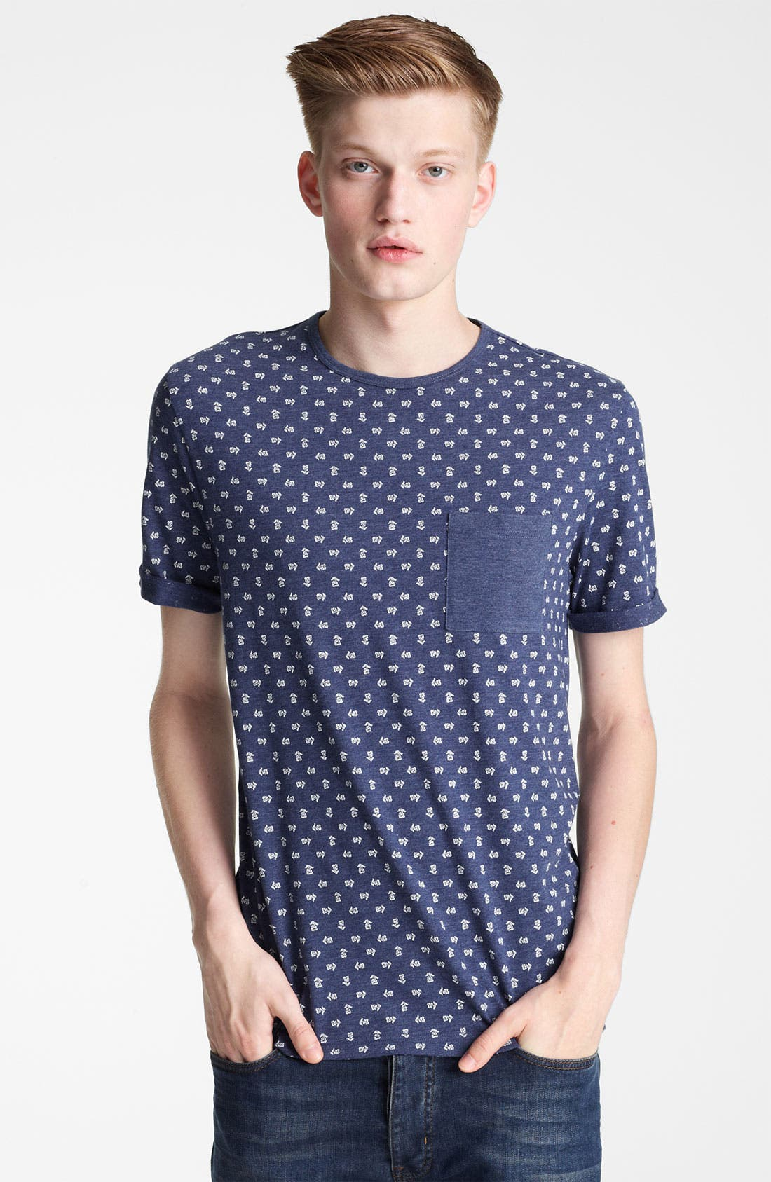 Main Image - Topman All Over Flower Print T-Shirt