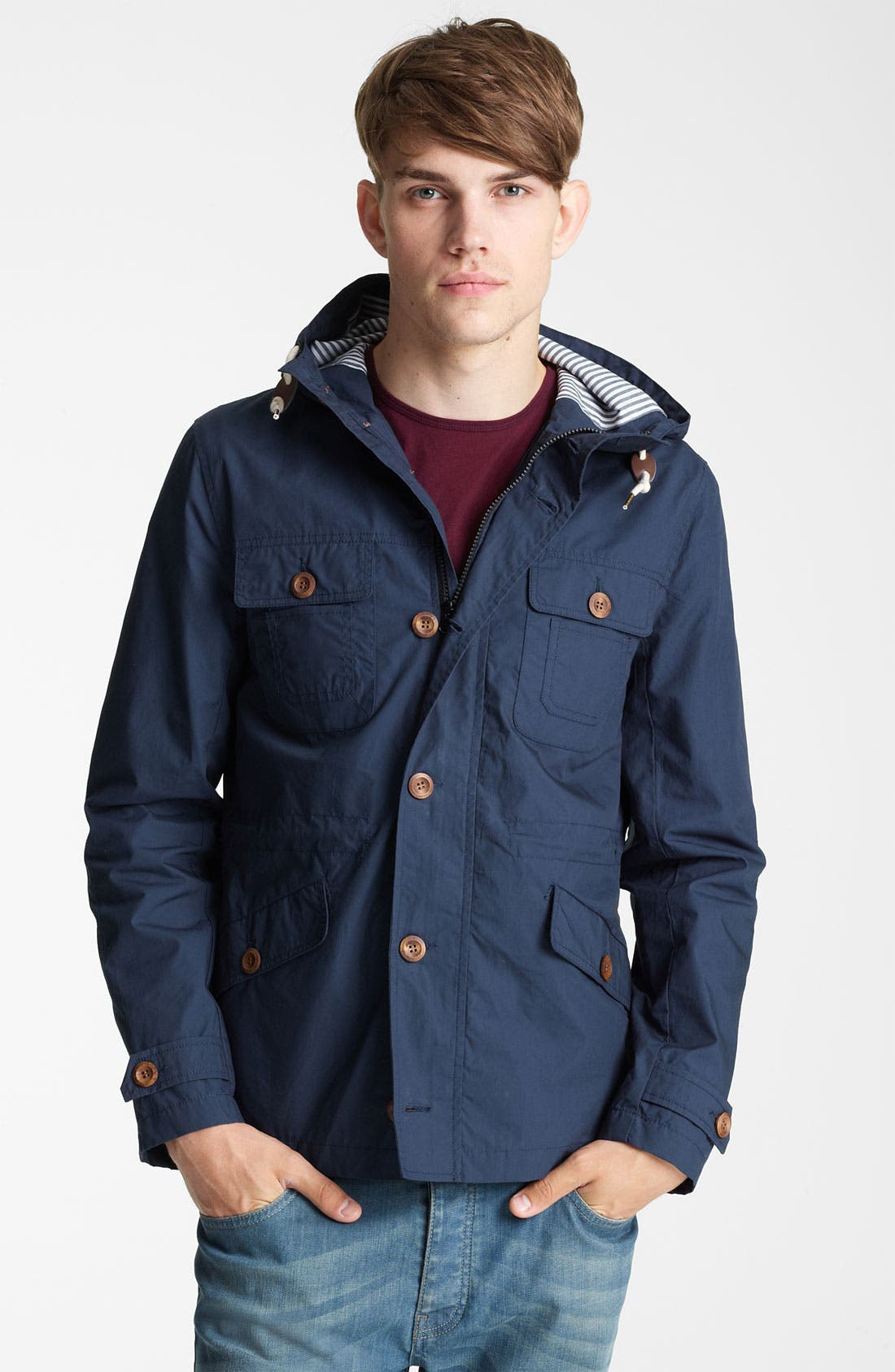 Alternate Image 1 Selected - Topman 'Kagool' Hooded Jacket