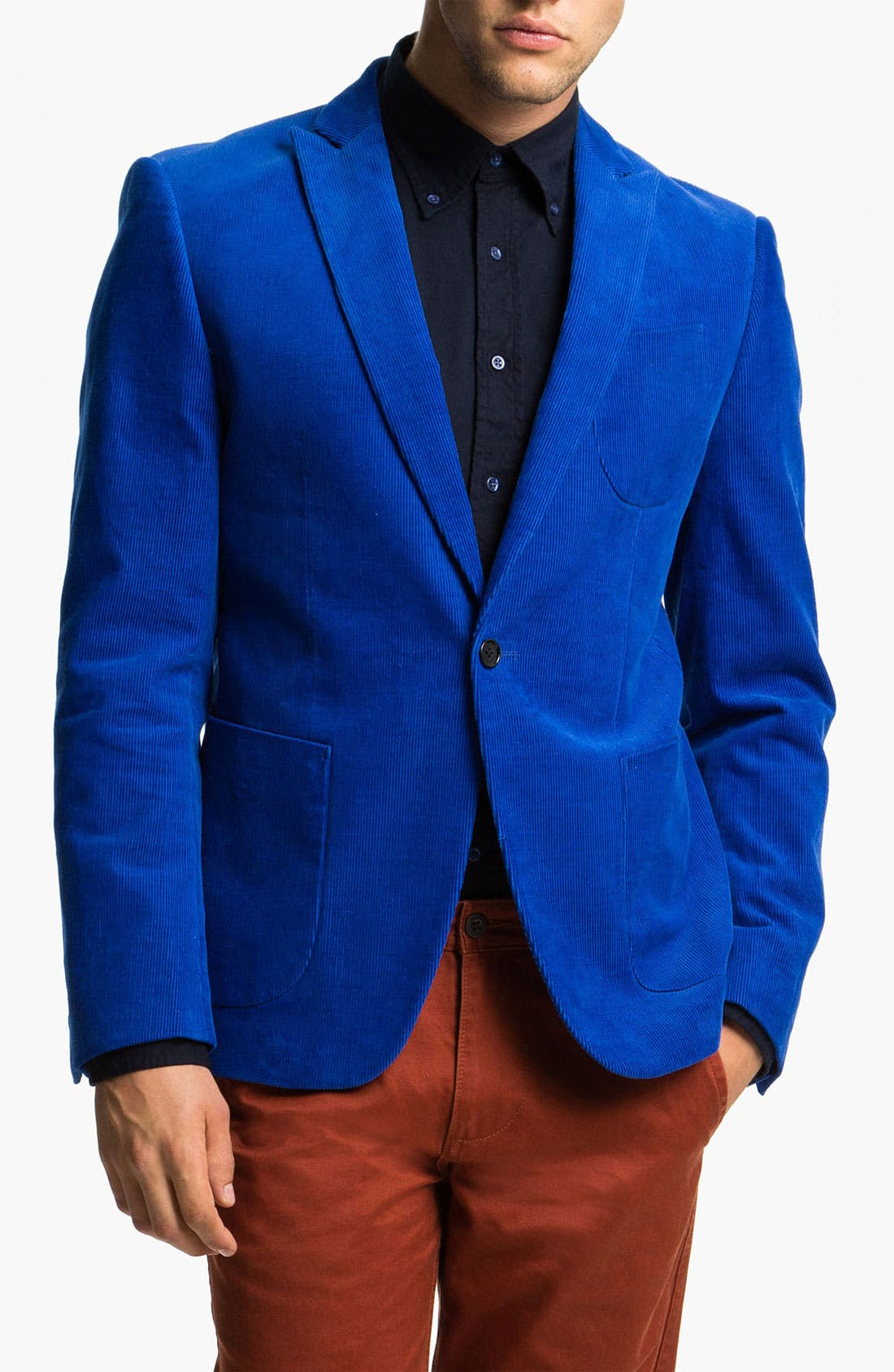 Alternate Image 1 Selected - Scotch & Soda Trim Fit One Button Corduroy Blazer