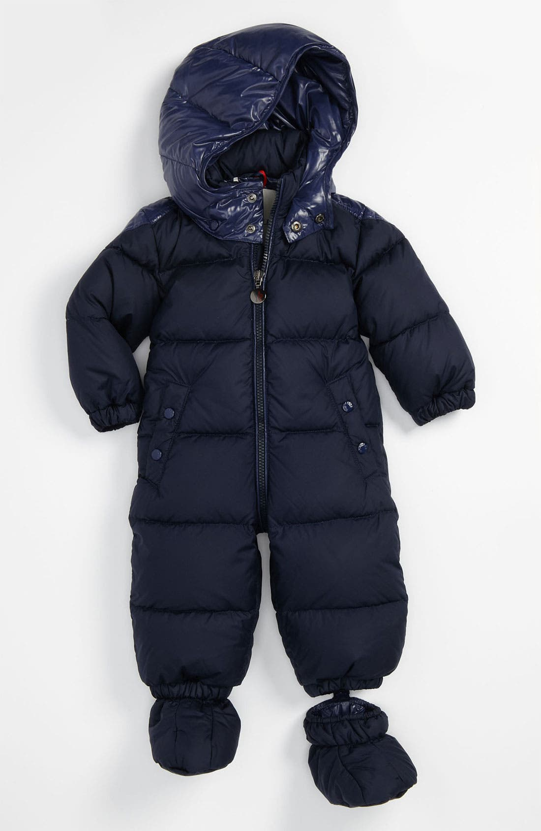 Main Image - Moncler 'Amandes' Puffer Snowsuit (Infant)