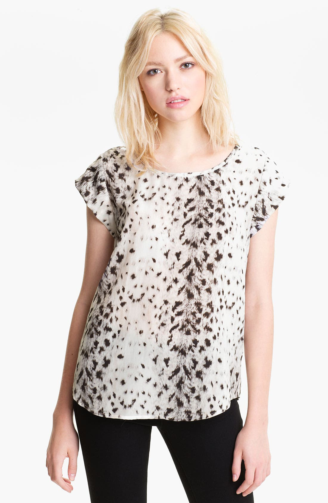Alternate Image 1 Selected - Joie 'Rancher' Silk Pocket Top