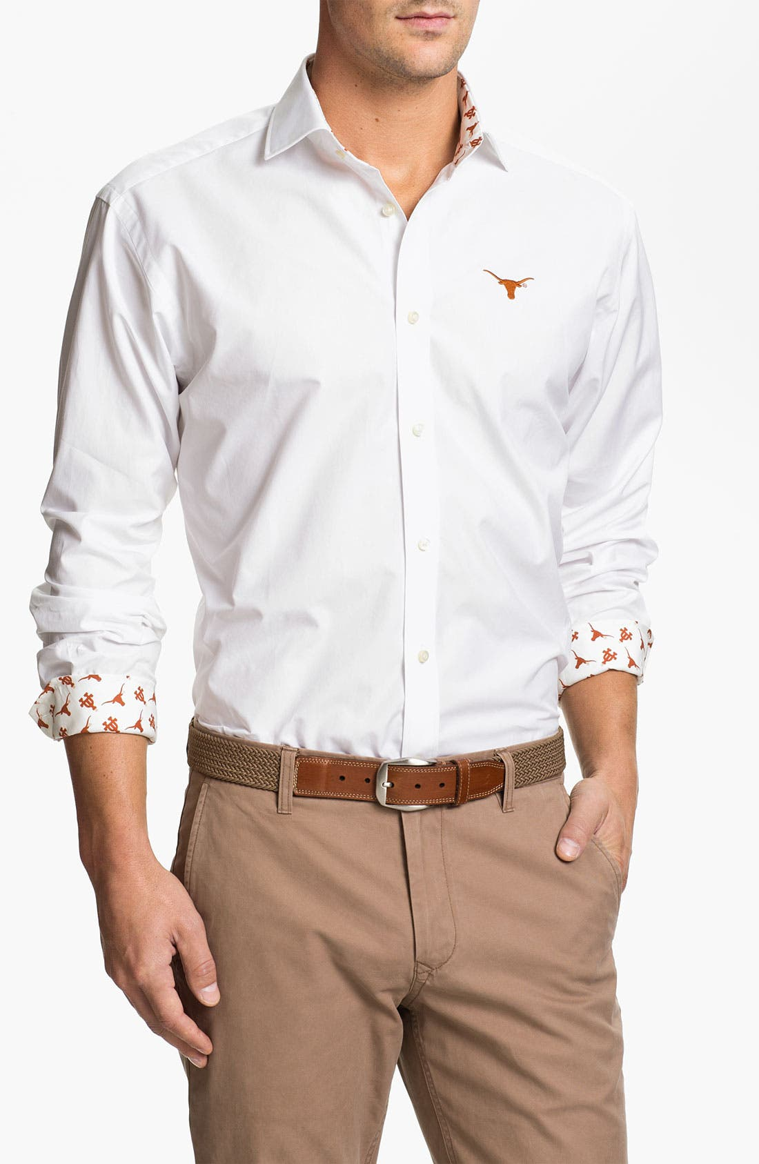Alternate Image 1 Selected - Thomas Dean 'University of Texas' Sport Shirt