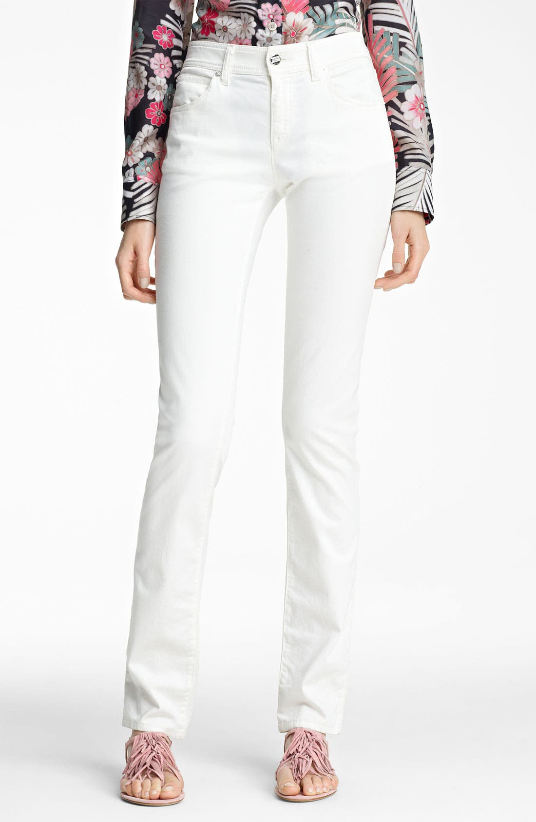 Alternate Image 1 Selected - Armani Collezioni High Waist Stretch Jeans