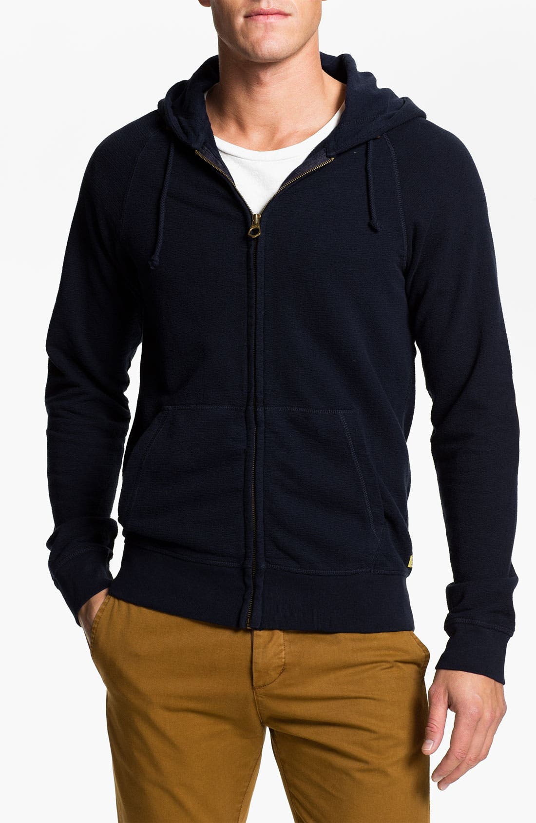 Alternate Image 1 Selected - Scotch & Soda 'Felpa Sailor' Zip Hoodie